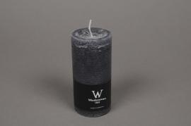 A134E2 Boîte de 8 bougies rustique grise D6 H12cm