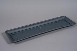 A134NT Grey plastic saucer 21.5cm x 76cm H4cm