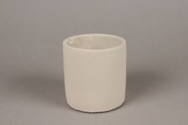 A134TN Light grey terracotta planter D10.5cm H11cm