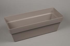 A135H7 Grey plastic gardener 20cm x 48cm H16.5cm