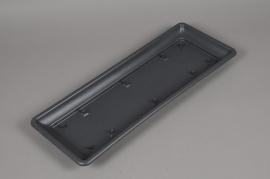 A135NT Soucoupe en plastique gris 21.5cm x 56.5cm H4cm