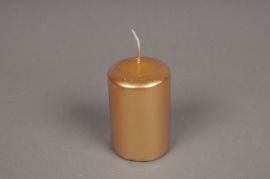 A136E2 Box of 24 candles gold cylinder D5cm H8cm
