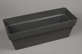 A136H7 Grey plastic gardener 20cm x 48cm H16.5cm