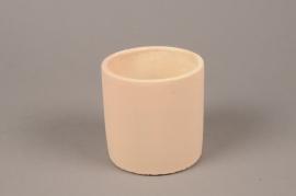 A136TN Cache-pot en terre cuite beige D11cm H11.5cm