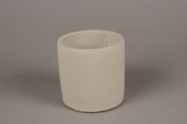 A137TN Light grey terracotta planter D11cm H11cm