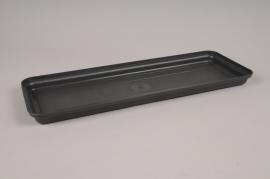 A138H7 Grey plastic saucer 44x16cm H3cm