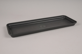 A138H7 Soucoupe en plastique ardoise 44x16cm H3cm