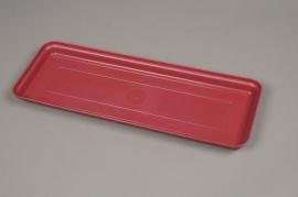 A139H7 Pink plastic saucer 44x16cm H3cm