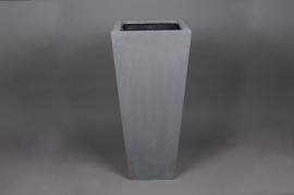 A139LC Cache-pot en polystone gris 42x42cm H100cm