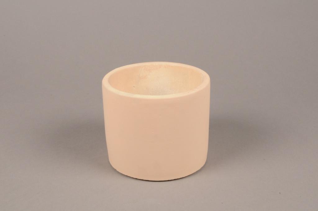 A139TN Cache-pot en terre cuite beige D13.5cm H11cm