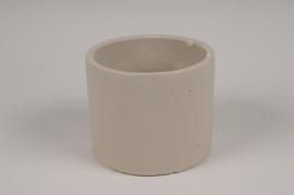A140TN Cache-pot en terre cuite gris D13cm H11cm