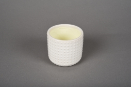 A140VU White ceramic planter pot D7.5m H7cm