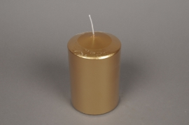 A141E2 Box of 6 candles gold cilynder D10cm H15cm