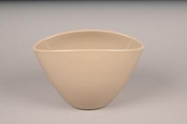 A141I0 Cache-pot céramique taupe H17cm