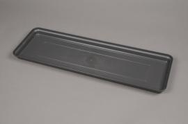 A142H7 Grey plastic saucer 59x19cm H4cm