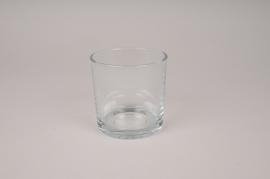 A142I0 Vase en verre cylindre D10cm H10cm