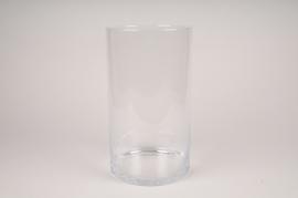 A142W3 Vase en verre cylindre D20cm H35cm
