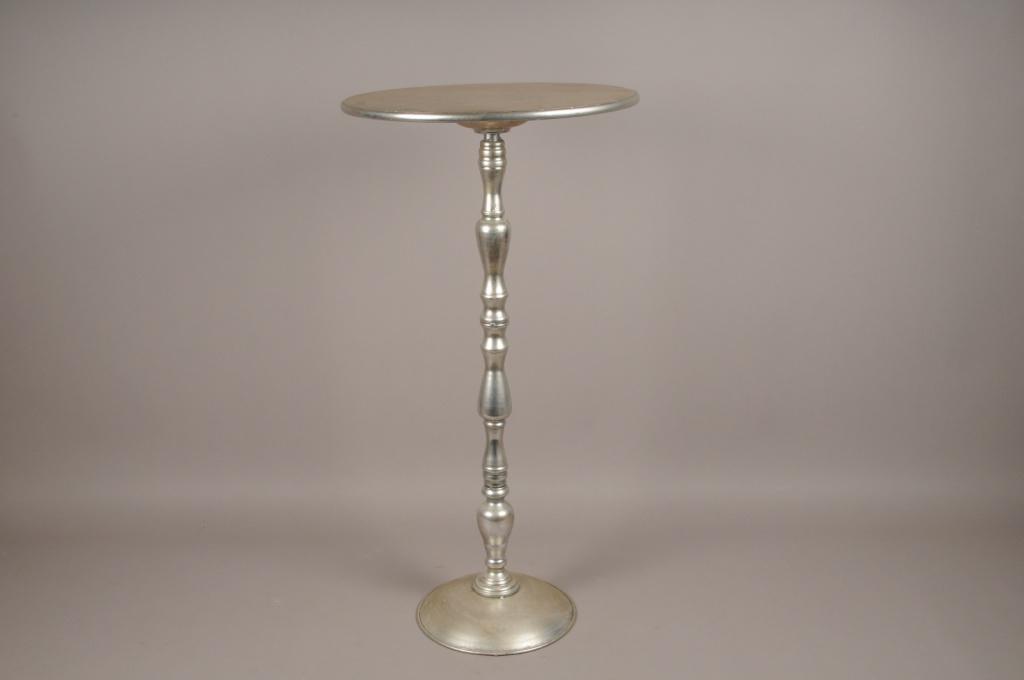 A143HH Silver metal table D71cm H71cm