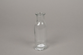 A143I0 Glass bottle vase D4.5cm H14cm