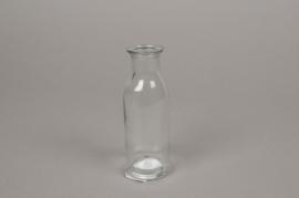 A143I0 Vase bouteille en verre D4.5cm H14cm