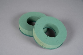 A143T7 Set of 2 floral foam wreath D17cm