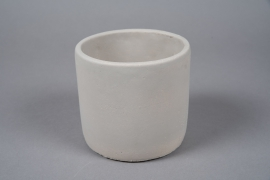 A143TN Light grey terracotta planter D12cm H11cm