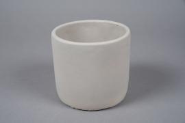 A143TN Cache-pot en terre cuite gris clair D12cm H11cm
