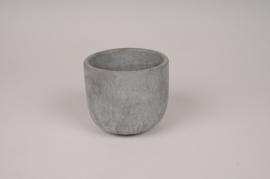 A144TN Cache-pot en béton gris D10.5cm H9cm