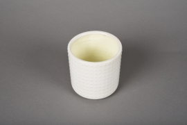 A144VU White ceramic planter pot D10cm H10cm