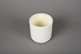 A144VU Cache-pot en céramique blanc D10cm H10cm