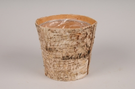 A145DZ Planter wood bark D15cm H15cm