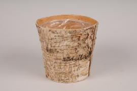 A145DZ Planter wood bark D15cm H15cm