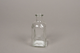 A145I0 Glass bottle vase 5cm x 5cm H11cm