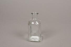 A145I0 Vase bouteille en verre 5cm x 5cm H11cm