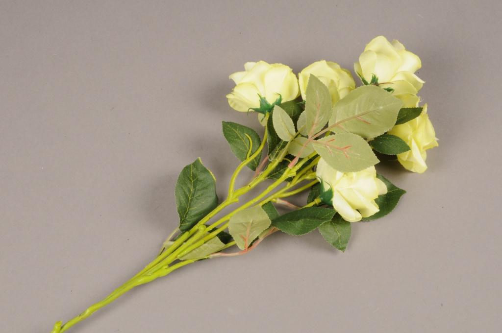 a145nn Artificial green branch rose H70cm