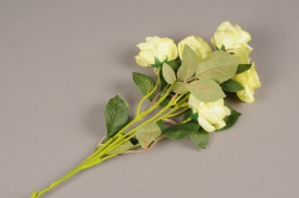 a145nn Artificial green branch rose H70cm
