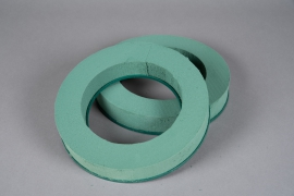 A145T7 Set of 2 floral foam wreath D25cm