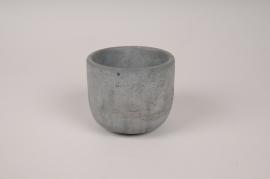 A145TN Cache-pot en béton gris D10.5cm H8.5cm