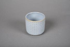A145VU Cache-pot en céramique bleu D7.5cm H7cm