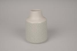 A146DQ Vase en céramique gris clair D11cm H15cm