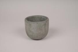 A146TN Cache-pot en béton gris D10.5cm H8.5cm
