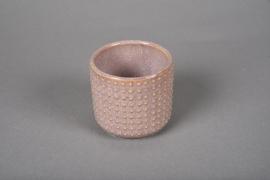 A146VU Cache-pot en céramique rose D7.5cm H7cm