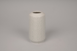 A147DQ Vase en céramique gris clair D9cm H14cm