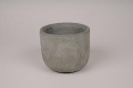 A147TN Cache-pot en béton gris D10.5cm H8.5cm