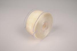 A147UN White cream ribbon 38cm x 20m