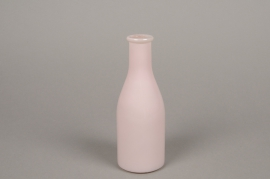 A148I0 Pink glass bottle vase D6.5cm H18cm