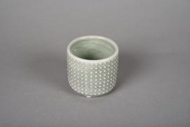 A148VU Cache-pot en céramique vert D7.5cm H7cm