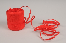 A148ZR Red roll of synthetic raffia 200m