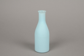 A149I0 Blue glass bottle vase D6.5cm H18cm