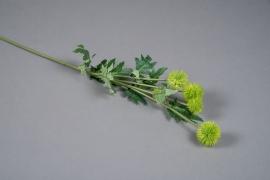 a149nn Echinops artificiel vert H70cm